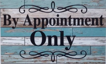 Opening August 3, 2020 – By Appointment Only