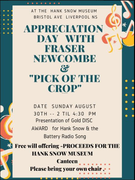 Appreciation Day Featuring Fraser Newcome and Pick of the Crop