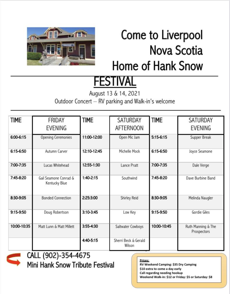 Mini Hank Snow Tribute Festival