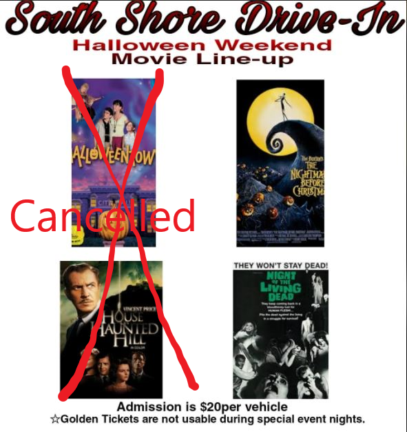 October 30th Movie Cancelled  – see SSDI's Facebook for updates on October 31st